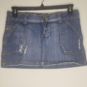 O'Neill Medium Blue Mini Denim Skirt
